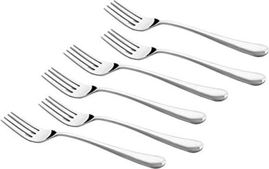 Shapes Opera Stainless Steel 6 Pieces Dinner Fork Set for Home/Kitchen