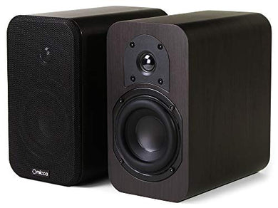 Micca RB42 Reference Bookshelf Speaker with 4-Inch Woofer and Silk Tweeter (Dark Walnut, Pair)