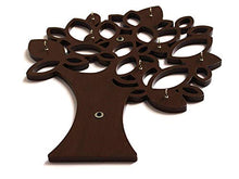 Load image into Gallery viewer, Art Window Tree Key Wall Holder || Wooden Key Holder || Decorative Key Hanger (Brown)