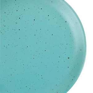 Chumbak Spotted Sky Dinner Plate - Teal (Blue)
