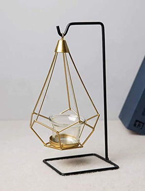PIKIFY Steel Hanging Geometric Candle Holder - 1pc