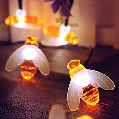 Itmumbai Honeybee Fairy String Lights, Plug in String Lights 16LED Warm White Lights for Party/Birthday/Wedding/Christmas Indoor Outdoor Decoration