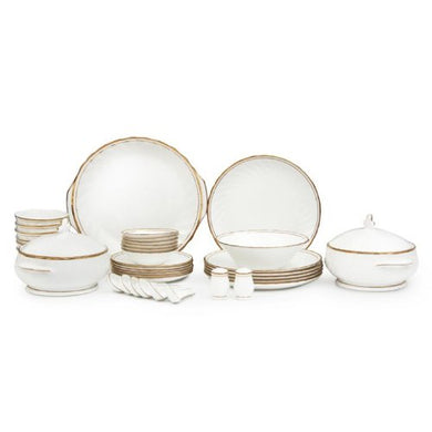 Clay Craft Karina 310 GL Bone China Dinnerware Set, 38-Pieces, Multicolor