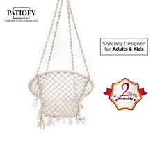 Load image into Gallery viewer, Patiofy Made in India Large Size Swing Chair|with Free Complete Hanging Kit Hammock-Hanging Chair Handmade 100% Cotton for Comfort Indoor and Outdoor (Swing with Accessories)