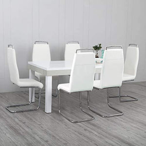 Home Centre Alabaster 6 Seater Dining Table Set with Chair - Home Decor Lo