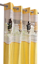 Load image into Gallery viewer, LaVichitra Polyester Door Curtain with Floral Net (7ft, Yellow) -2 Pieces