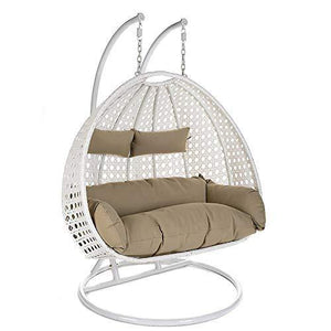 Double Swing Basket Chair with Curve Stand for Kid's and Adult - Home Decor Lo