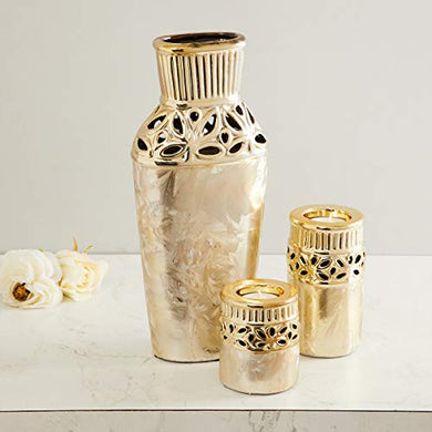Home Centre Stellar Fantasy Laser-Cut Vase with T-Light Holder - Set of 3