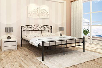 Homdec Antlia Metal Queen Bed