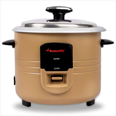 Butterfly Wave Electric Rice Cooker (1.8 L) - Gold