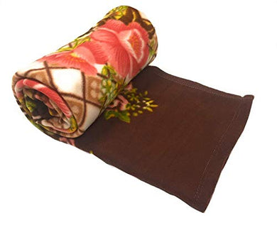 Shivaan Home Furnishing Polyester 120 TC Blanket (Double_Brown)