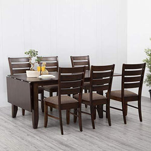 Home Centre Butterfly 4-6-8 Extension Dining Table Set with 6 Chairs - Home Decor Lo