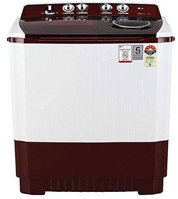 LG 11 kg 5 Star Semi-Automatic Top Loading Washing Machine (P1145SRAZ, Burgundy, Punch + 3)