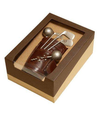 Lavanaya Silver Exclusive Golf Bar Set with Leatherette Bag & Beautiful Box (Metalic) - Home Decor Lo