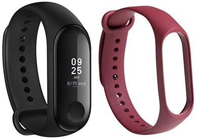 Mi Band 3 (Black) + Additional Strap (Red)