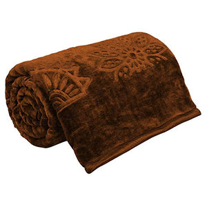 Cloth Fusion Celerrio Mink Single Bed Blanket for Winter- Chocolate Brown