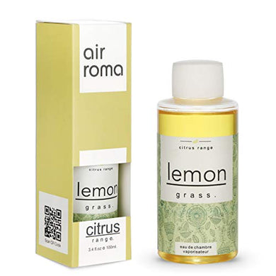 AIR-ROMA Pure, Natural and Undiluted Lemon Grass Aroma Diffuser Oil - 100ml, Yellow