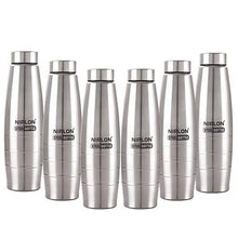 Load image into Gallery viewer, NIRLON Stainless Steel 6 Pcs Fridge Water Bottle/Refrigerator Bottle/Thunder(1000 ML)