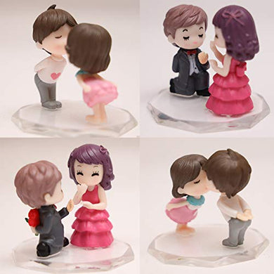 ZENUSS® Combo of showpiece with Purpose and Kissing Style for Valentine Gift, Friendship Day, Gift for Girlfriend Boyfriend Husband