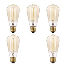 Load image into Gallery viewer, Prop It Up Vintage Incandescent Antique Dimmable Edison Bulb for Home Light Fixtures Squirrel Cage Filament E27 Base for Pendant Lighting, Wall Sconces, Ceiling Fan and Chandeliers - Pack of 5