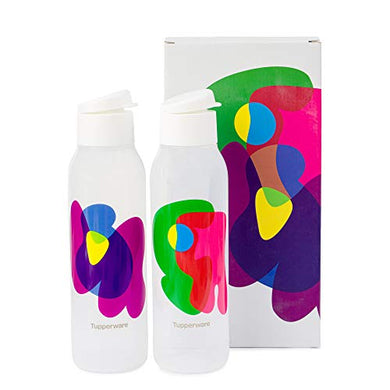 Tupperware Cool n Chic, Bright n Chirpy Plastic Bottle, 750ml, Set of 2, White
