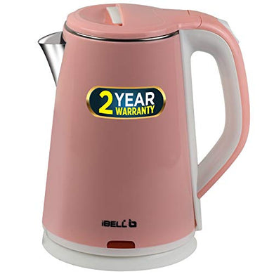 iBELL SEKR20L Premium 2.0 Litre Stainless Steel Electric Kettle,1500W Auto Cut-Off Feature,Pink