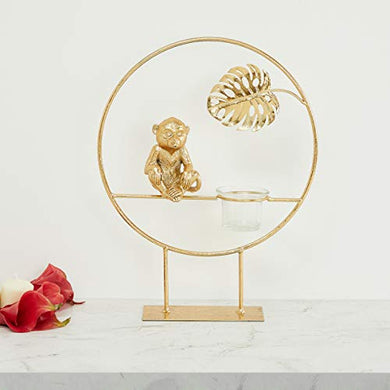 Home Centre Eternity Monkey with Leaf T-Light Holder