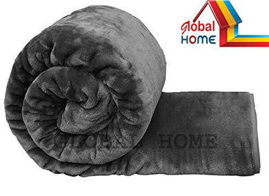 Global Home Microfiber 400 TC Blanket (Grey_King)