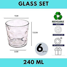Load image into Gallery viewer, Femora Clear Glass Rome Water Glass Juice Glass Glasses Set of 6-240ml