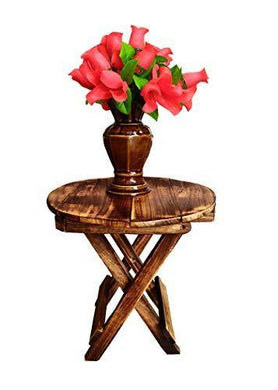 SZ Crafts Beautiful Wooden Folding Side Table