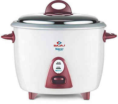 Bajaj Majesty New RCX 3, 1.5 litres, 350-Watt Multifunction Rice Cooker (White/Pink)