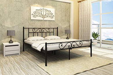 Homdec Dorado Metal Queen Bed