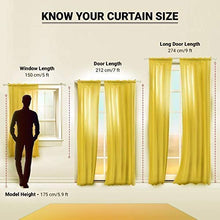 Load image into Gallery viewer, Reyansh Decor Set of 2 Heavy Designer Plain Polyester Eyelet Curtains (Door 4 X 7 Feet, 3_Grey_2PC)