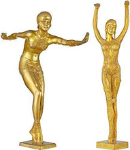 Load image into Gallery viewer, Exotic India Two Young Ladies Practising Yoga - Brass Statue - Home Decor Lo