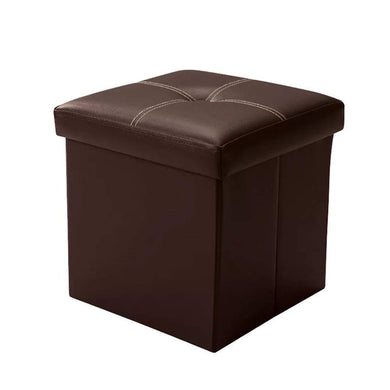 Folding Toy Box Chest with Memory Foam Seat: Coffee - Home Decor Lo