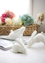 Load image into Gallery viewer, Creative Co-op DA5608 White Resin Downward Dog Yoga Rabbit Figurine - Home Decor Lo