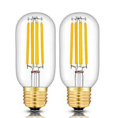 Citra Led Vintage Edison Bulbs,Antique Retro Incandescent Light Bulb 4W Squirrel Cage Filament Light Bulb T45 Classic Amber Glass E26/E27 Medium Base Dimmable (2 Pack)