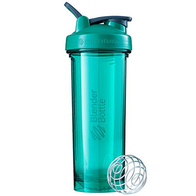 Blender Bottle Plastic Pro Series Shaker Bottle, 32 oz, Emerald Green