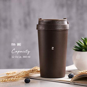 Scarters 13 oz/380 ml Leak Proof Coffee Sipper/Tumbler for Office/Travel/Business/Casual use – Portable, Eco-Friendly, Recycled from Coffee Grounds