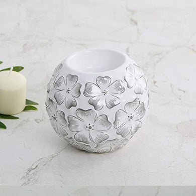 Home Centre Galaxy Floral Embossed T-Light Holder