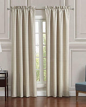 Load image into Gallery viewer, Mustafa Creation Classic Door Curtains for Living Room and Bed Room Contemporary Pattern - 7 Feet Long Set of 2 Daphne Window Panels Set