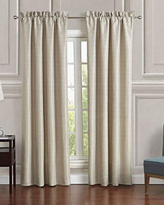Mustafa Creation Classic Door Curtains for Living Room and Bed Room Contemporary Pattern - 7 Feet Long Set of 2 Daphne Window Panels Set