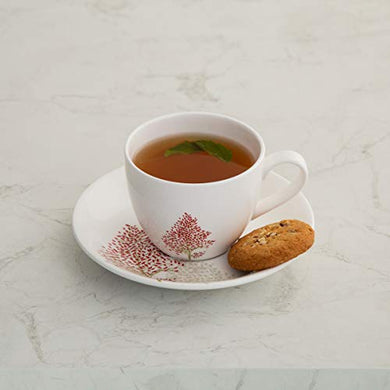 Home Centre Lucas Hipo Printed Tea Cup and Saucer