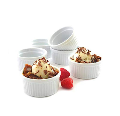 Mirakii 100ml, Bowl Set of 6, Microwave Convection & Dishwasher Safe Ramekins for Snacks, Kitchen Decoration,Sauce/Chutney, Cup Cake, Dessert, Souffle