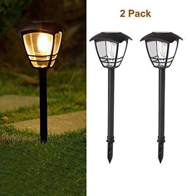 Tapetum Solar Edison Garden Light Incandescent Filament Bulb LED All Weather Outdoor Solar Landscape Lights for Driveway Walkway Sidewalk Lawn Patio Yard - TTSEMGL2W (Pack of 2) - Home Decor Lo