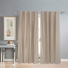 Load image into Gallery viewer, LINENWALAS Cotton Solid Grommet Doors Curtain, 4.5ft X 7ft, Beige, Pack of 2