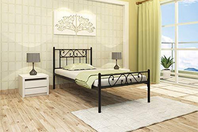 Homdec Dorado Metal Single Bed