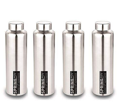 SPRINGWAY - Brand of Happiness® | Eco Neer-9 Stainless Steel Water Bottle 900ml Set of 4 (Steel)