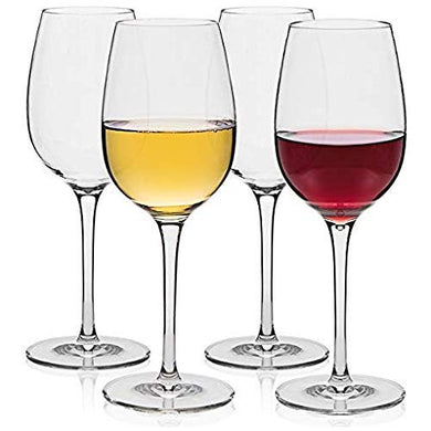 Ash & Roh® 400 ml Red and White Wine Glass | Party Glasses | Multi Purpose Wine Glass (Set of 4)