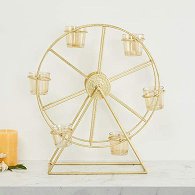 Home Centre Austin Hammered Giant Wheel T-Light Holder